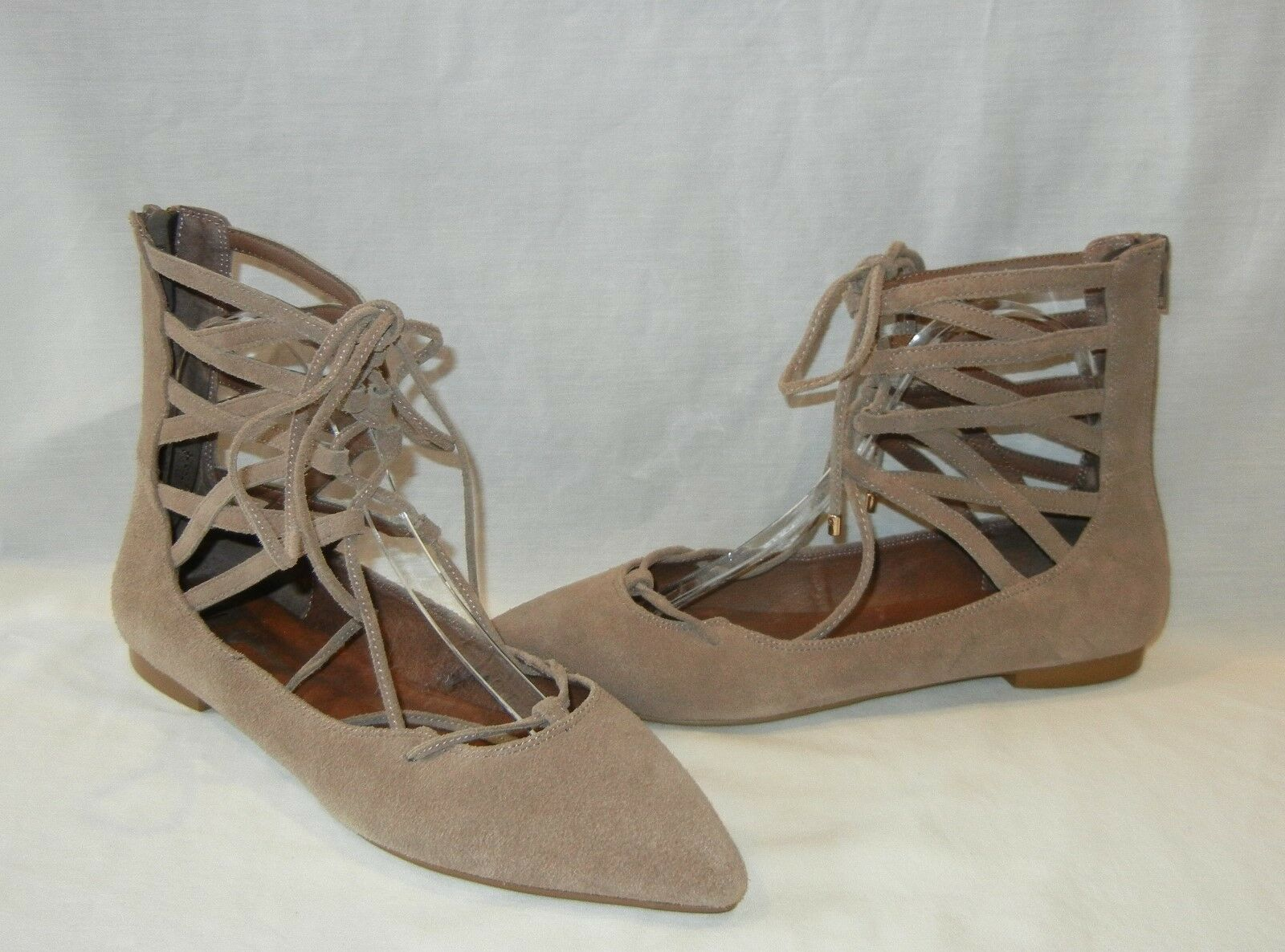 Jeffrey Campbell Women's Shay Suede Lace Up Sandal Flats Retail  130 size 9.5