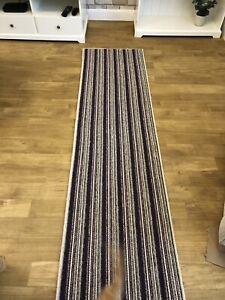 Aubergine Purple Stripe Rugs 8ft X 2ft