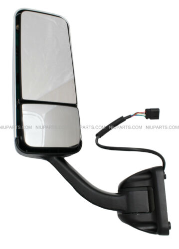 Freightliner Cascadia Door Mirror Heated and Powered Chrome Driver Side