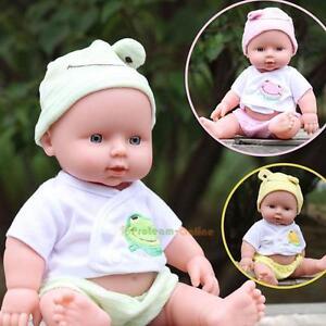 Handmade Lifelike Baby Doll Silicone Vinyl Newborn Dolls + Clothes + Music NEW