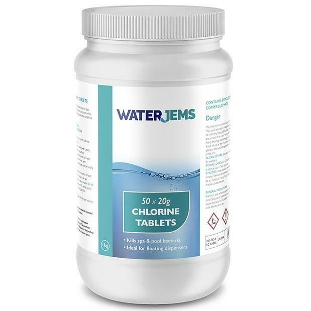 50x 20g Hot Tub Chlorine Tablets Premium Quality Spa Floating Chemical Dispenser