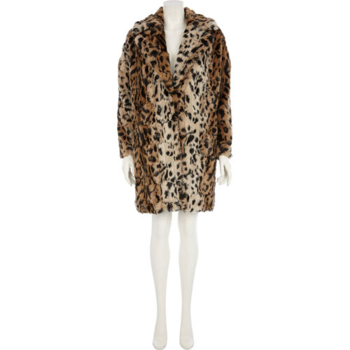 Jacket Leopard Size 16 Womens Fur Faux River Animal Ladies Print Island 18 Coat nUqRwTx67