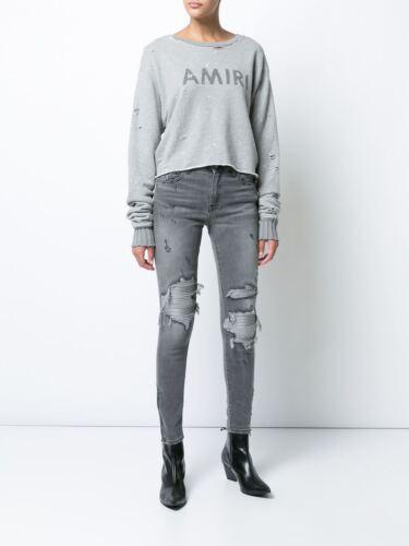 6 cuir patchs à W24 Uk Jean skinny en Amiri gris en Mx1 qAPXp