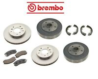 Ford Probe 89-92 Front+rear Brake Rotors With Pads Shoes Kit Brembo on sale