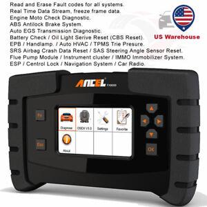 OBD2 Scanner ABS SRS SAS EPB DPF Oil TPMS Full system Diagnostic ANCEL FX6000 US