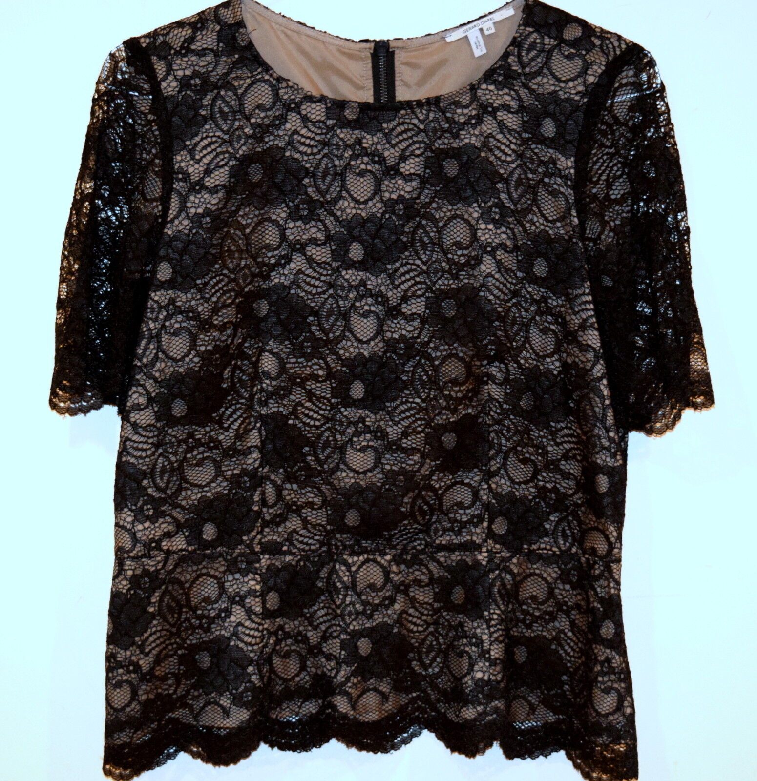 New damen GERARD DAREL Lace top Blouse Shirt Top Größe Large Weiß
