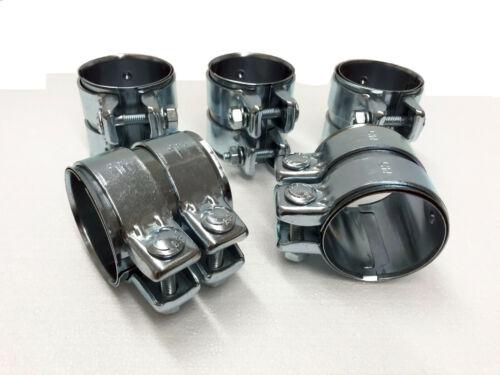 5 Stück Rohrverbinder Doppelschelle Auspuff Abgasanlage Ø 60 mm x Länge 90 mm