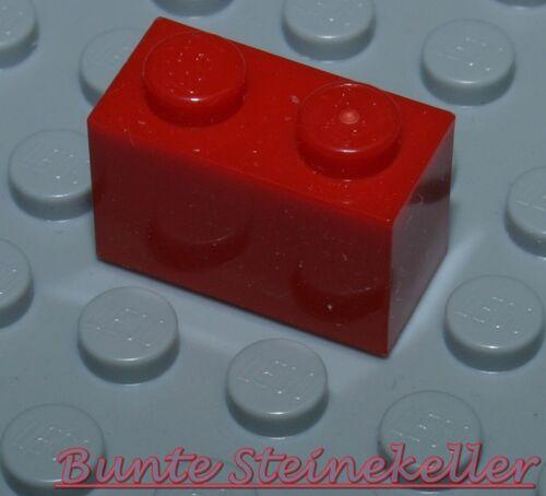 35 Stück rote LEGO Bau STEINE 1X2 Grundbausteine in rot 3004