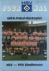 UEFA-EC-III-80-81-Hamburger-SV-PSV-Eindhoven-05-11-1980