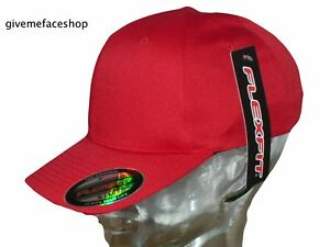 Image is loading Flexfit-red-baseball-caps-by-Yupoong-mens-amp- 4d6514c4cda
