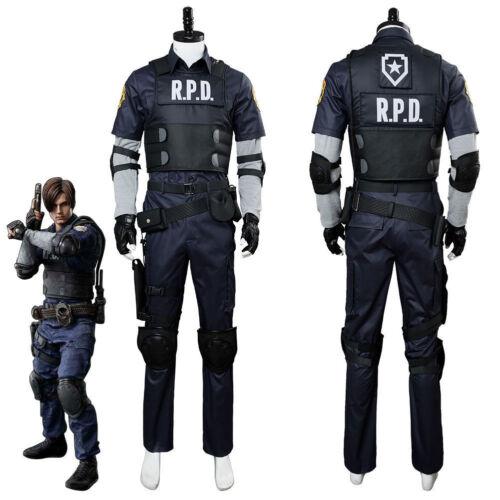 Resident Evil 2 Remake Biohazard Re:2 Leon Scott Kennedy Cosplay Police Costume