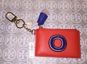 super popular 324a2 ea70a NWT Tory Burch Monogram Card Case Key Fob Initial 'O' 190041338719 ...