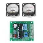 2x Panel VU Meter Warm Back Light Recording Audio Level Amp Con Placa Conductor