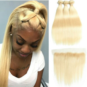 27# Pure Colored Honey Blonde Bundles With Closure Brazilian Straight Hair Bundles 100% Human Hair Preplucked Lace Closure Remy Moderate Price 3/4 Bundles With Closure