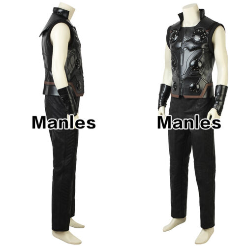 Avengers Infinity War Thor Odinson Costume Cosplay Halloween Leather Hero Suits