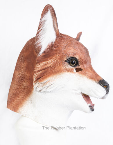 Fox Mask Movie Quality Foxy Animal Dog Cat Feline Latex Fancy Dress Stag Party
