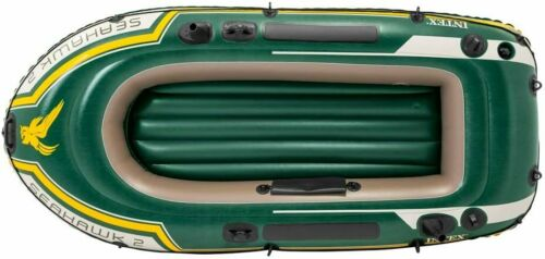 2 Person River Lake Inflatable Blow Up Sea Boat Fishing Water Leisure Paddle