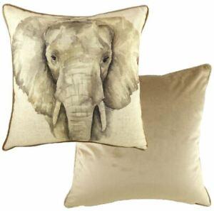 Evans-Lichfield-Fabrique-Safari-Elephant-Gris-Mink-Coussin-Rempli