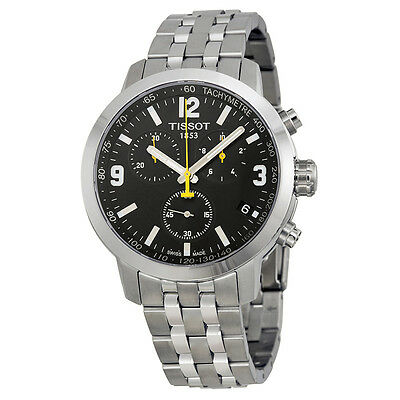 the watch shop tissot events tissot prc 200 chronograph black dial stainless steel mens watch t0554171105700