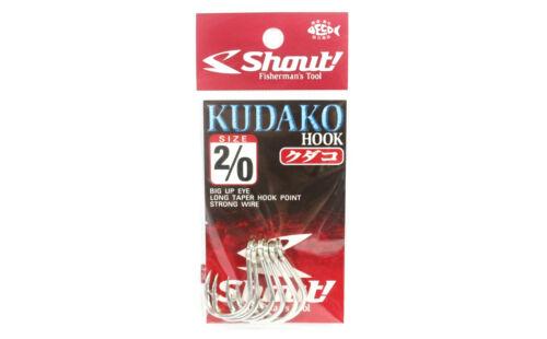 Shout 04-KH Kudako Power Jigging Single Hook Silver Size 2//0 7208