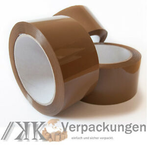 36-x-LEISE-Klebeband-50-mm-x-66-m-LOW-NOISE-akryl-PP-Packband-tape-film-braun