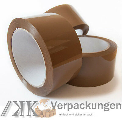 6 x Klebeband LOW NOISE LEISE 50mm x 66 m akryl PP Packband film* transparent