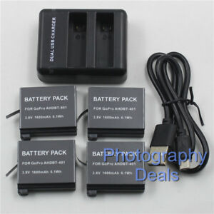 1600mAh-Battery-For-GoPro-AHDBT-401-Battery-Dual-Charger-For-GoPro-HD-Hero-4