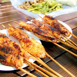 100x Bamboo Fork Fruit Desserts Food Cocktail Sandwich Fork Stick Pick Skewer La