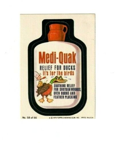 """Sticker Card 1979 Wacky Packages 1st Series /""""PICK-A-SINGLE/"""" Complete your Set"""