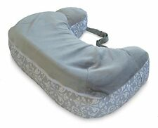 Boppy Two-Sided Breastfeeding Pillow, Kensington/Gray