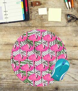 Flamingos-Round-Mouse-Pad-Easy-Glide-Non-Slip-Neoprene