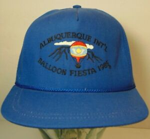Rare-Vintage-1985-Albuquerque-Balloon-Fiesta-Hot-Air-Balloon-Graphic-Hat-Cap-USA