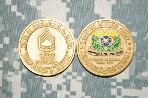 Challenge Coin US Army Quartermaster Corps ANCOC Class 92Y 03010