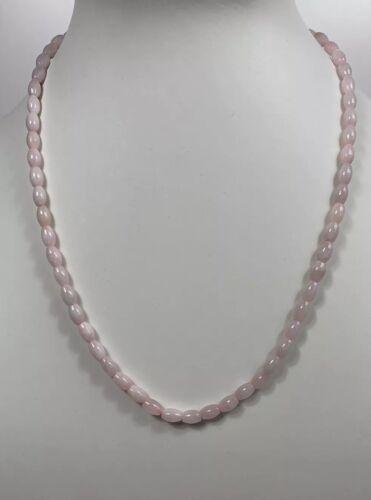 Collar Con Cuentas Rosa Jade Natural 5mm * 7mm granos