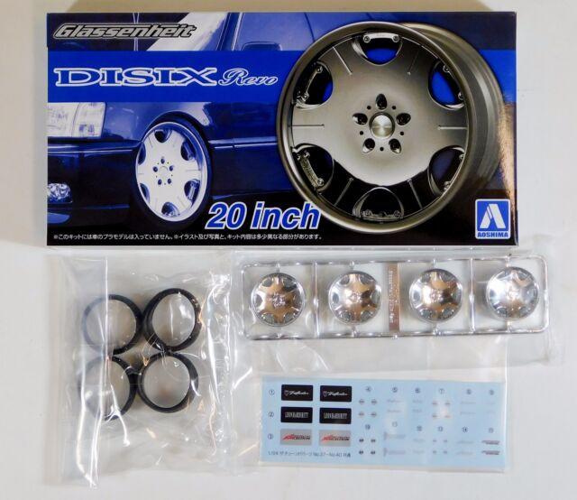 "Aoshima 1/24 Glassenheit Revo 20"" Wheel & Tire For Plastic Models 5373 (40)"