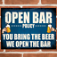 thumbnail 5 - OPEN BAR POLICY Metal Signs Funny Plaque Pub Vintage Retro Man Cave Tin Sign UK