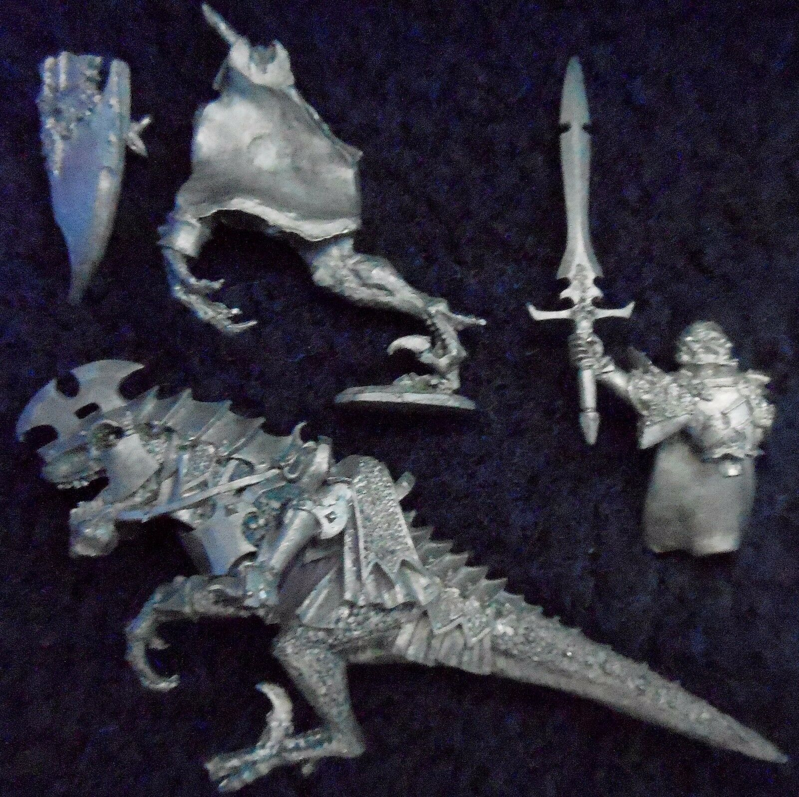 2007 dark elf dreadlord on cold one citadelle seigneurs & héros cavalerie knight army