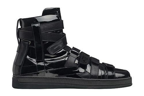 Dior En Haute Homme Sneakers Montantes Aw08 Verni Haute Cuir Hedi Baskets rOrTqSBgI