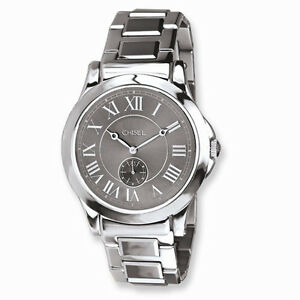 05c9e5df8c0b Image is loading Unisex-Chisel-Tungsten-Stainless-Steel-Gray-Watch-Black-