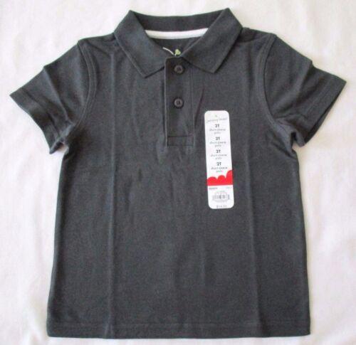 Jumping Beans 2T 3T 4T Pepper Dark Gray Short Sleeve Polo Shirt New
