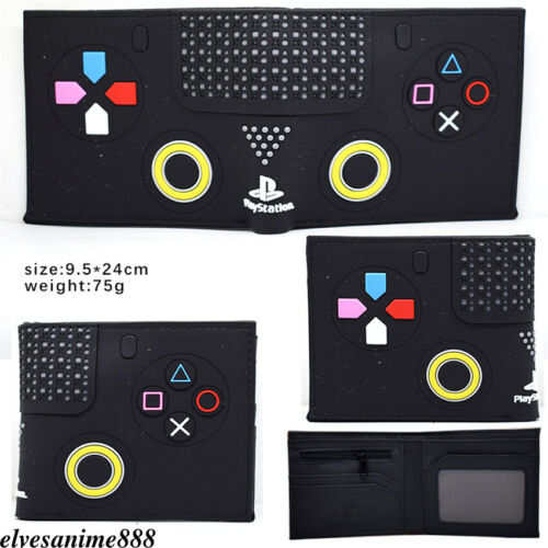 PlayStation PS4 Wallet Bifold Short Purse Unisex Card Holder PVC Coinbag Gifts