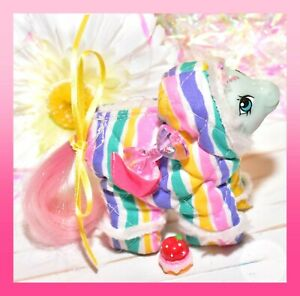 My-Little-Pony-MLP-G1-Vtg-1985-Cuddles-Baby-Buggy-Pony-NBBE-Snowsuit-Outfit