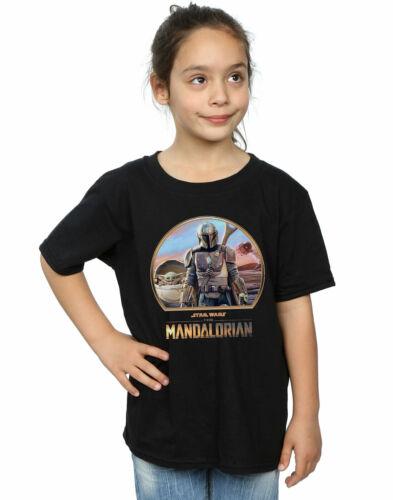 STAR Wars Ragazze i Mandaloriani mando e il Bambino T-shirt nera 9-11 anni