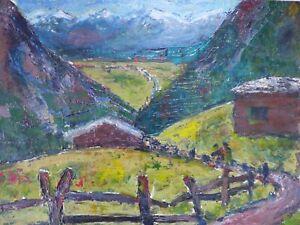 Olgemaelde-attr-Theodor-Hugo-Fenners-1877-1977-Alpen-Landschaft-um-1930