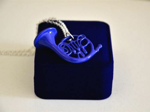 How I Met Your Mother HIMYM Umbrella Blue French Horn Necklace Pendant Nice #HA2