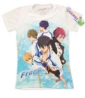 License Free Iwatobi Swim Club Makoto Group Key Art Juniors T-shirt 59900