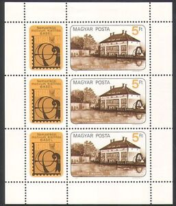Hungary-1983-Water-Mill-Buildings-Architecture-Industry-Stampex-3v-sht-n34871
