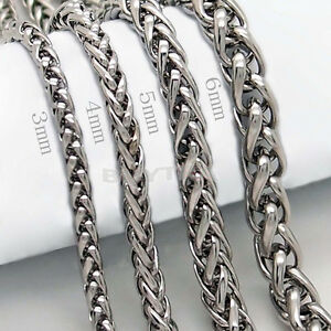 3-4-5-6MM-20-034-MENS-Silver-Stainless-Steel-Wheat-Braided-Chain-Necklace-R-T