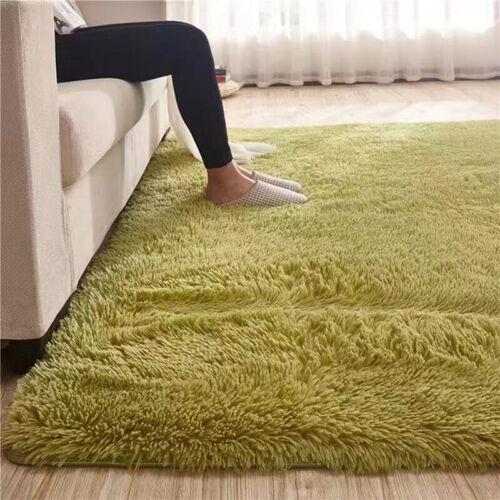 Fluffy Rugs Anti-Skid Shaggy Area Rug  Room Carpet Floor Mat Home Bedroom NeNWUS
