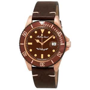 Mathey-Tissot-Mathey-Vintage-Bronze-Automatic-Brown-Dial-Men-039-s-Watch-H901BZM